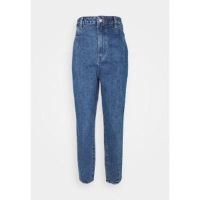 オブジェクト トール レディース デニムパンツ ボトムス OBJMILA SLOUCHY  - Relaxed fit jeans - medium blue denim medium blue denim