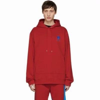 ケンゾー パーカー Red Embroidered Logo Hoodie