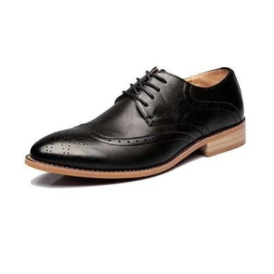 [POSTBULL] 通気性最高 メンズ ビジネスシューズ 本革 紳士靴 フォーマル シークレット ウォーキング ウイングチップ カジュアル 冠婚葬祭