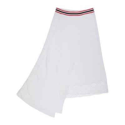MRZ 七分丈スカート  レディースファッション  ボトムス  スカート  ロング、マキシ丈スカート ホワイト