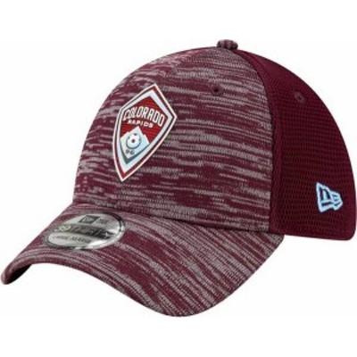 ニューエラ メンズ 帽子 アクセサリー New Era Men's Colorado Rapids Maroon 39Thirty On Field Streth Hat