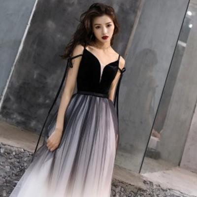 パーティードレス 3色 ノースリーブ リボン 結婚式 二次会 お呼ばれ ワンピース ロング マキシ ドレス 大きいサイズ 異素材ミックス Aラ
