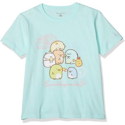 [スミッコグラシ] Tシャツ すみっコぐらし ぺんぺんアイスクリーム 半袖 キッズ サックス 日本 120 (日本サイズ120 相当)
