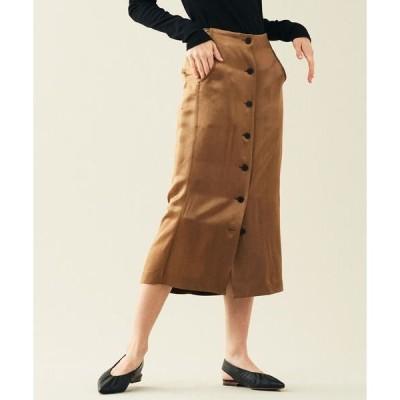 TOMORROWLAND / トゥモローランド ウェイビーサテン フロントボタンスカート