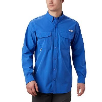 (取寄)コロンビア メンズ パーミット ウーブン ロングスリーブ シャツ Columbia Men's Permit Woven LS Shirt Vivid Blue