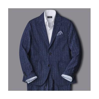 (Men's Bigi/メンズビギ)サッカー ストレッチ ジャケット/COOL MAX(同素材パンツあり セットアップも可能)/メンズ ネイビー
