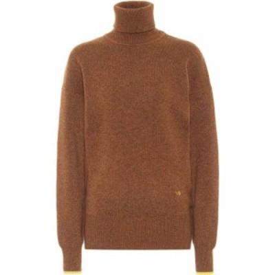 ヴィクトリア ベッカム Victoria Beckham レディース ニット・セーター トップス Cashmere Turtleneck Sweater Brown/Yellow