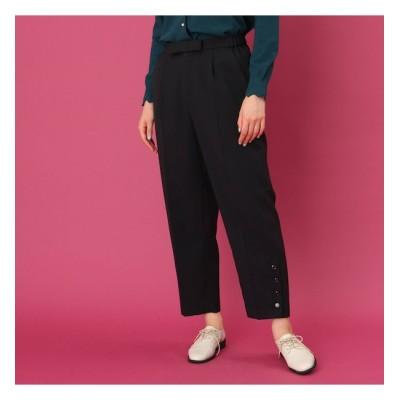 【クチュール ブローチ/Couture brooch】 【WEB限定サイズ(S・LL)あり/手洗い可】フロントリボンクロップトパンツ