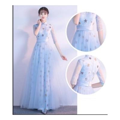 Aラインドレス イブニングドレス 花嫁ドレス 謝恩会 披露宴 レディースドレス ウェディングドレス 二次会 結婚式 ロングドレス ワンピース お呼ばれドレス
