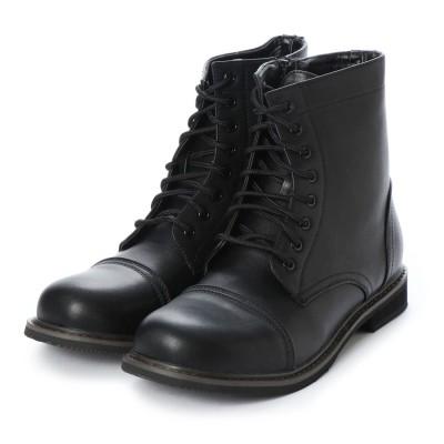 SFW ボアダム BOREDOM 様々なスタイルに取り入れやすいトゥーキャップ8ホールサイドジップブーツブーツ/8025 (ブラック)