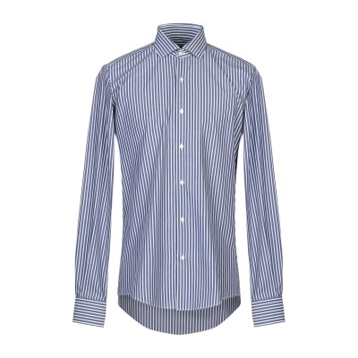 MASSIMO BRUNELLI シャツ ブルー 38 コットン 100% シャツ
