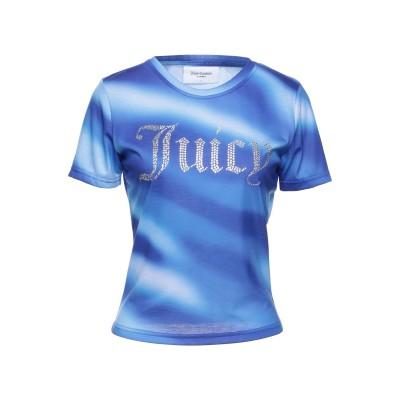 ジューシークチュール JUICY COUTURE T シャツ ブライトブルー S ポリエステル 100% T シャツ
