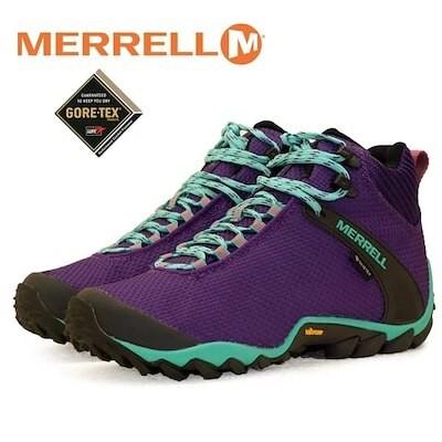 メレル MERRELL CHAMELEON 8 STORM MID GORE-TEX 034140 カメレオン ストーム ゴアテックス 紫 防水トレッキング レディース