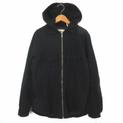 【中古】エフオージー エッセンシャルズ フィアオブゴッド 18SS ジップ フーデッド レイヤード CPOジャケット 黒 XS