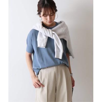 レディース フレームワーク GASS COTTON プルオーバー(半袖)◆ ブルー A フリー