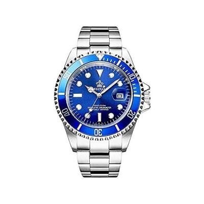 Mens Luxury Watches Luminous Quartz Silver Gold Two Tone Stainless Steel Wa