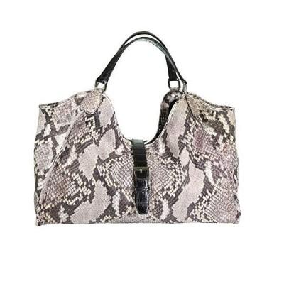 (新品)Roje Leather Natural python skin colette handbag with Alligator skin handles(並行輸入品)