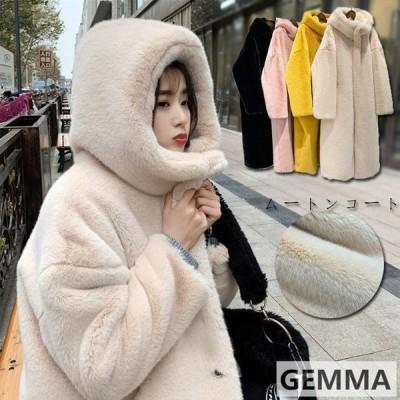 暖かいムートンコートふわふわロング丈レディースフェイクファー冬新作ボリュームファーコートファーコート冬アウター