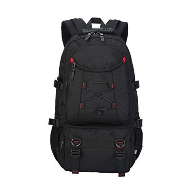 KAXIDY 40 Litre Backpacks Rucksacks Multifunction Waterproof Camping Hiking Bike Gym Snowboard Trekking Rucksacks (Black)並行輸入品