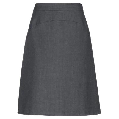 アイスバーグ ICEBERG ひざ丈スカート グレー 44 バージンウール 100% ひざ丈スカート