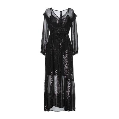 I BLUES 7分丈ワンピース・ドレス ブラック 40 レーヨン 100% / ポリエステル 7分丈ワンピース・ドレス