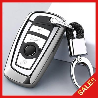 Ontto BMW スマート キーケース キーカバー キーホルダー 汚れ、傷防止 落ちにく 金属光沢 鍵を保護 オシャレ TPU