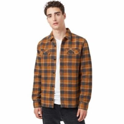 テンツリー Tentree メンズ シャツ フランネルシャツ トップス Heavyweight Flannel Shirt Rubber Brown Retro Plaid