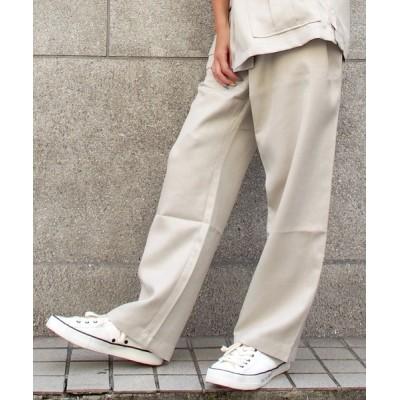 パンツ 360 サンロクマル アシンメトリーウエストデザインワイドパンツ 《セットアップ対応商品》