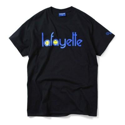 ラファイエット 半袖 Tシャツ メンズ LAFAYETTE Tennis Logo Tee ブラック