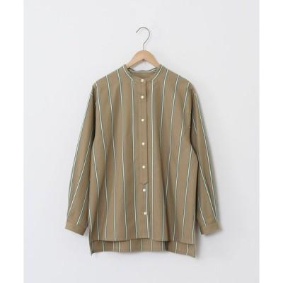 【コーエン】ストライプバンドカラーシャツ