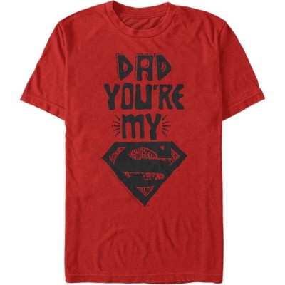 フィフス サン Fifth Sun メンズ Tシャツ トップス DC Dad You're My Superman Short Sleeve T-Shirt Red