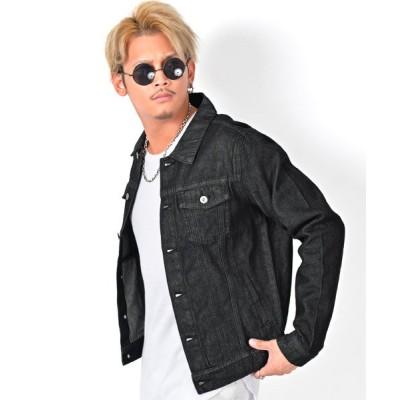 【ラグスタイル】 ウォッシャブルGジャン/デニムジャケット メンズ ジャケット ウォッシャブル デニム メンズ ブラック M LUXSTYLE