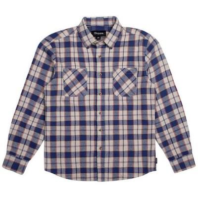 Brixton Hoffman Flannel Shirt Blue/Grey M ネルシャツ 送料無料