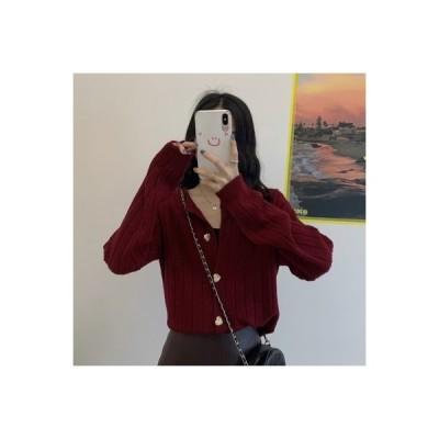 【送料無料】秋 韓国風 ミニ丈 ルース アウター 気質 丸襟 ラブ ボタン 長 | 364331_A63556-1444803