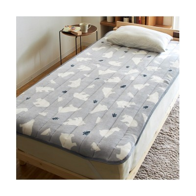 なめらかでソフトなフランネル素材の敷きパッド(白クマ) 敷きパッド・敷パッド, ベッドパッド, Bed pats(ニッセン、nissen)