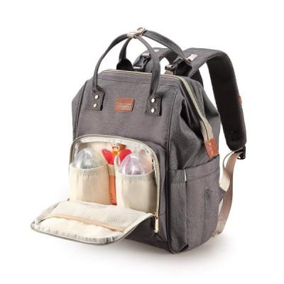 マザーズバッグ育児リュック ママバッグ 大容量、多機能防水旅行リュック、オムレツケア、USBインターフェース、ファッション、アップグレードバージョン(ライト