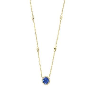エフィー レディース ネックレス・チョーカー・ペンダントトップ アクセサリー  1/10 ct. t.w. Diamond and 3/4 ct. t.w. Tanzanite Necklace in 14K White Gold