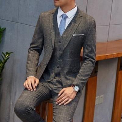 メンズ スリーピーススーツ ビジネススーツ フォーマルスーツ 3点セット セットアップスーツ 成人式 結婚式 スーツ 紳士服 入学式 新作