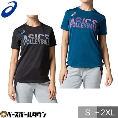 アシックス バレーボールウェア レディース 半袖 W'Sグラフィックショートスリーブトップ 2052A133 Tシャツ