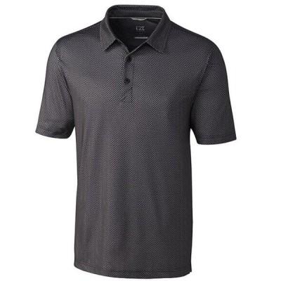 カッターアンドバック メンズ シャツ トップス Big & Tall Pike Polo Mini Pennant Print Performance Stretch Short-Sleeve Polo Shirt