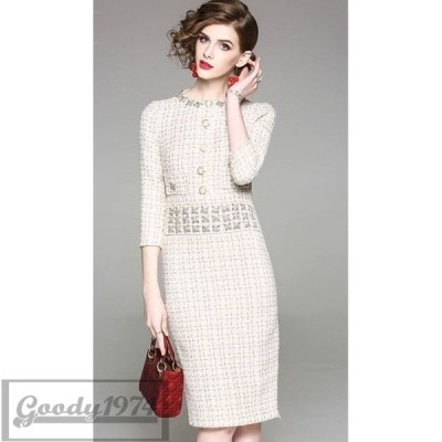 ビジュー付き 結婚式 ドレス お呼ばれ ワンピース 30代 フォーマル ドレス 50代 40代 披露宴パーティドレス 50代 上品ワンピース
