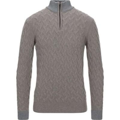 プリヴァティ PRIVATI メンズ ニット・セーター トップス sweater with zip Brown
