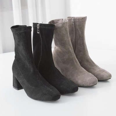 PIPPIN レディース ブーツ Suede ankle span boots #84964