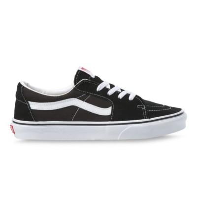 バンズ メンズ スニーカー スケート スケートロー ブラック ホワイト 黒 白 スケートシューズ 靴 VANS SKATE SK8-LOW BLACK/WHITE