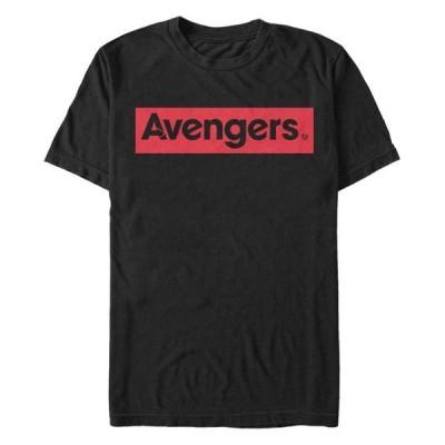 マーベル メンズ Tシャツ トップス Men's Avengers Red Logo Short Sleeve T-Shirt