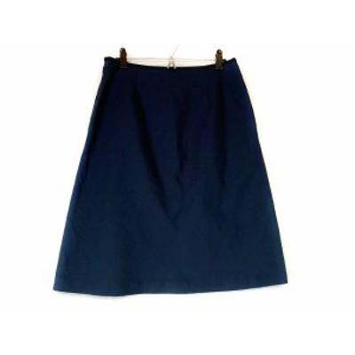 マーガレットハウエル MargaretHowell スカート サイズ2 M レディース 美品 ダークネイビー×黒【中古】20201106
