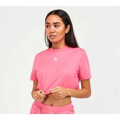 アディダス adidas Originals レディース ベアトップ・チューブトップ・クロップド トップス essential crop top Semi Solar Pink