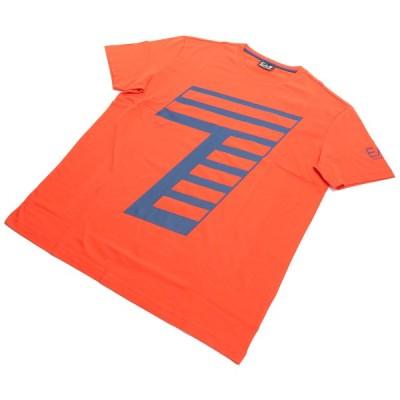 #XXLサイズ イーエーセブン EA7 −Tシャツ 6HPT33 PJ2NZ 1484 POINCIANA オレンジ系  big-01