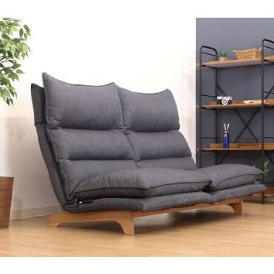 不二貿易 ダブルクッション座椅子 2P(ダークグレー) Fit2(フィット) リクライニングソファ 2人掛け 19207 【返品種別A】