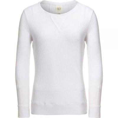 フューダ Fu Da レディース ブラウス・シャツ トップス Long Sleeve Honeycomb Shirt White